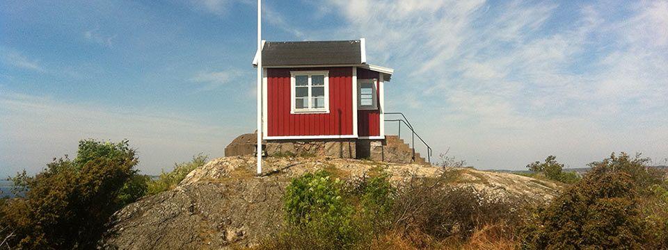 Lotsutkiken på Brännö, lotsarnas ö idag en populär sommarö i södra Skärgården.